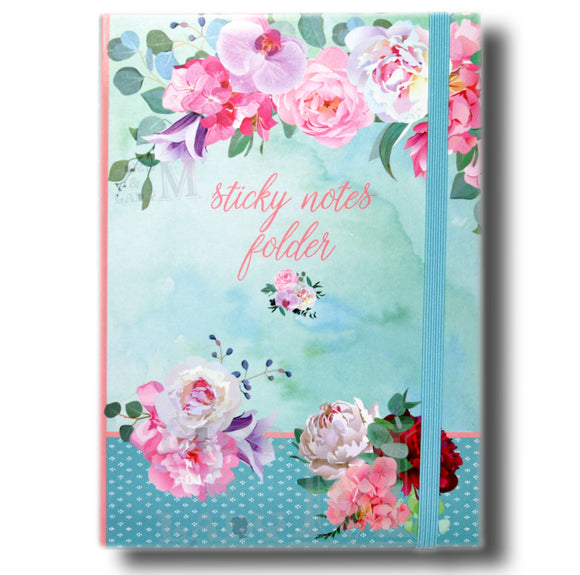 Belles Fleures Sticky Folder - Sticky Notes Memo Pad