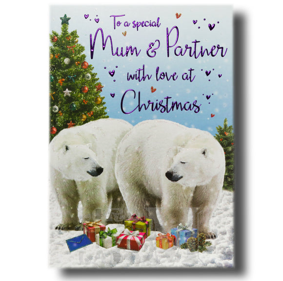 23cm - To A Special Mum & Partner - Polar Bears GH