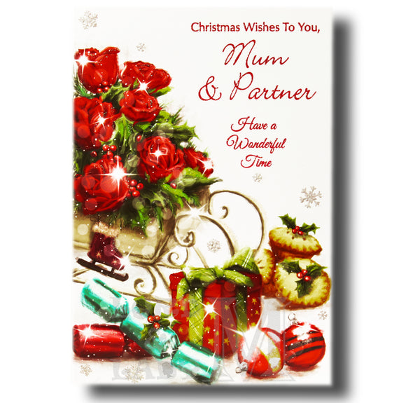 19cm - Christmas Wishes To You, Mum & Partner - GH