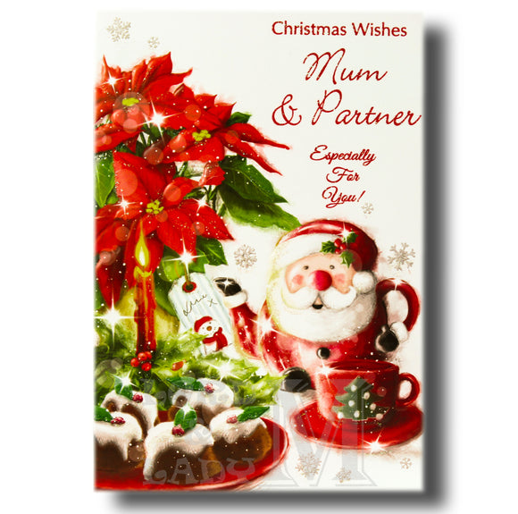 19cm - Christmas Wishes Mum & Partner - GH