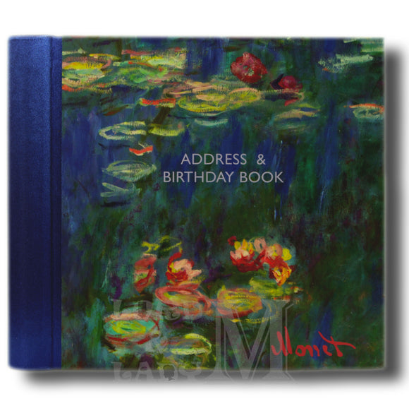 Monet Hardback Address And Birthday Book - Water Lilies - Perfect Gift Idea