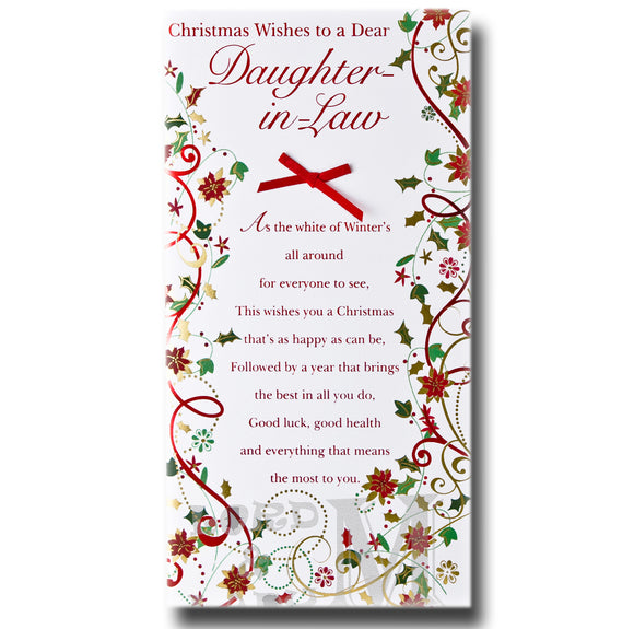 23cm - Christmas Wishes To A Dear Daughter-in-Law
