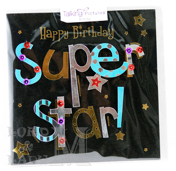 15cm - Happy Birthday Super Star