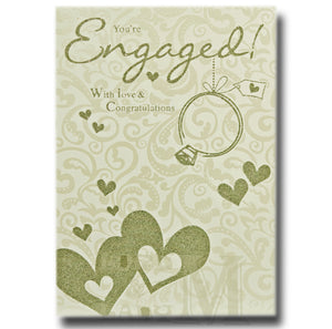 22cm - You're Engaged! With Love & Congratulations
