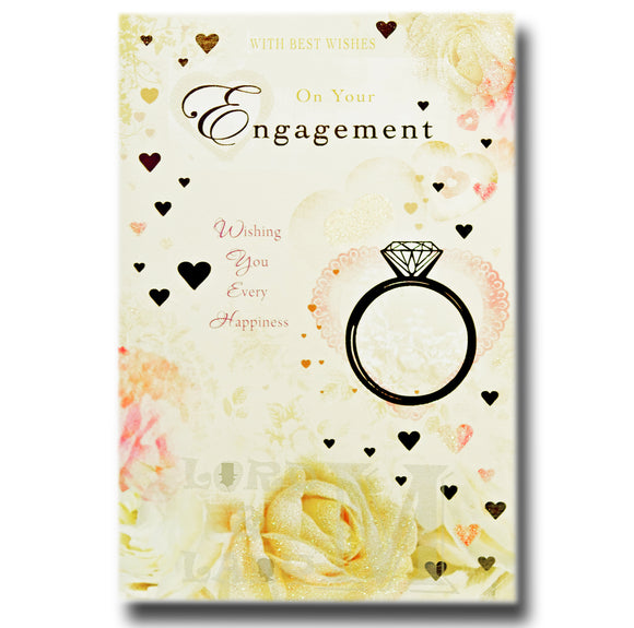 23cm - With Best Wishes On Your Engagement