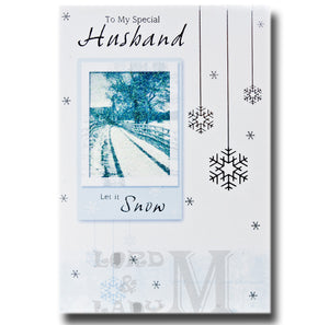 19cm - To My Special Husband - Let It Snow - CWH