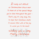 19cm - Wishing You A Happy Christmas - CWH