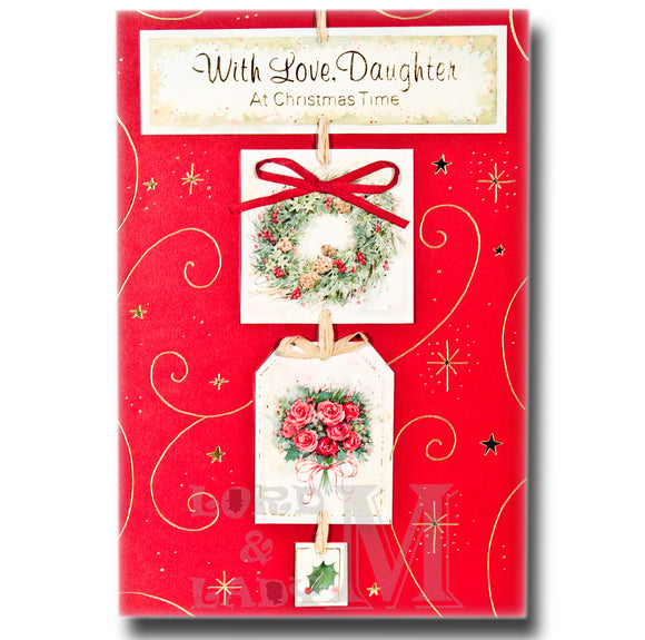 20cm - With Love, Daughter At Christmas Time - CWH