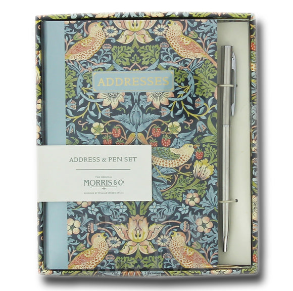 Morris & Co Address And Birthday Book With Matching Pen - Perfect Gift Set