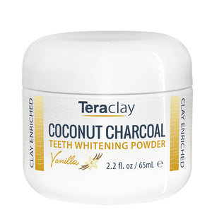 Coconut Charcoal Teeth Whitening Powder - Vanilla