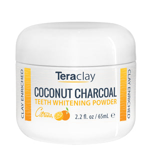 Coconut Charcoal Teeth Whitening Powder - Citrus