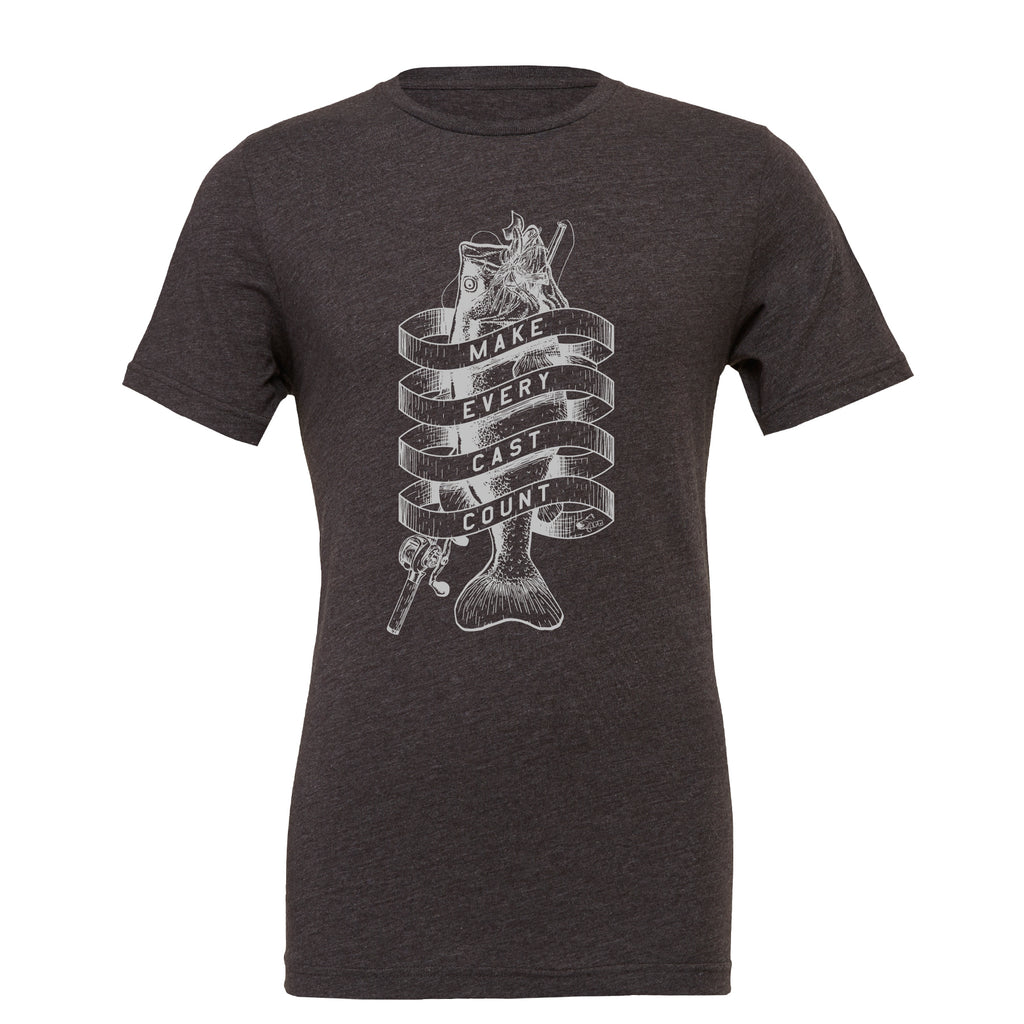 Make Every Cast Count Heather Grey T-Shirt