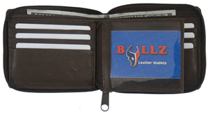 Texan Bull ® RFID Zipper Mens Wallet TXB-RF5101