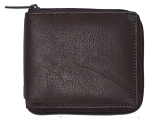 RFID Zipper Mens Wallet RF5103-BR