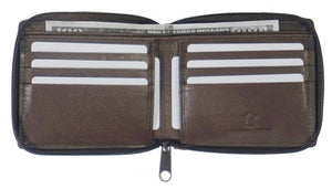 RFID Zipper Mens Wallet RF5102-BR