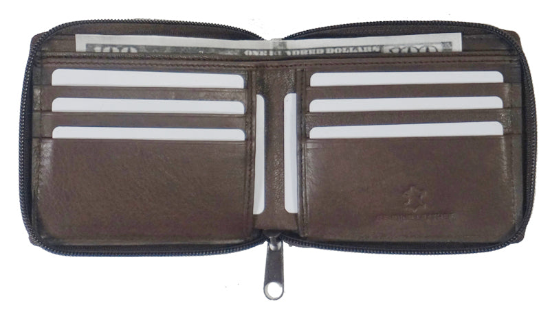 Texan Bull® RFID Zipper Mens Wallet TXB-RF5102