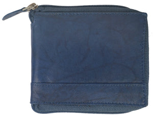 Zipper Mens Wallet ZW101-BL