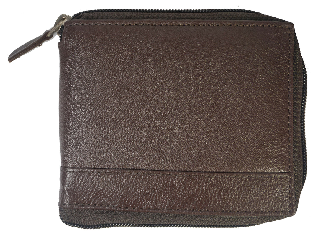 Zipper Mens Wallet ZW101-BR