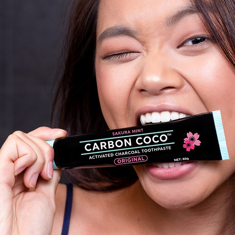 Activated Charcoal Toothpaste Sakura Mint Duo Pack - LIMITED TIME ONLY
