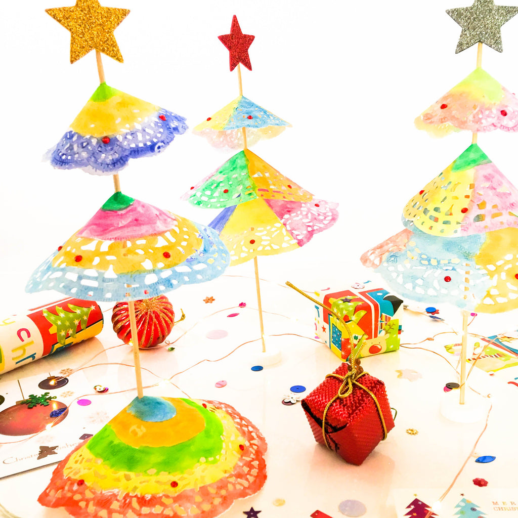 DIY Rainbow Christmas Tree Craft