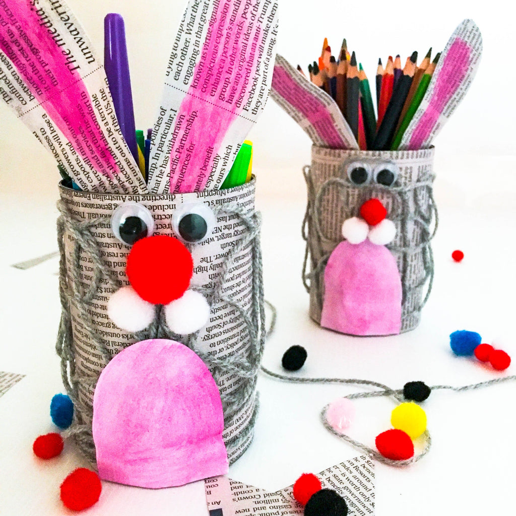 DIY Easter Bunny Pencil Holders