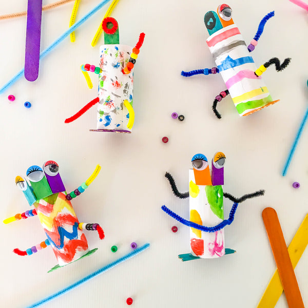 DIY Toilet Roll Aliens - Happy Active Kids Australia