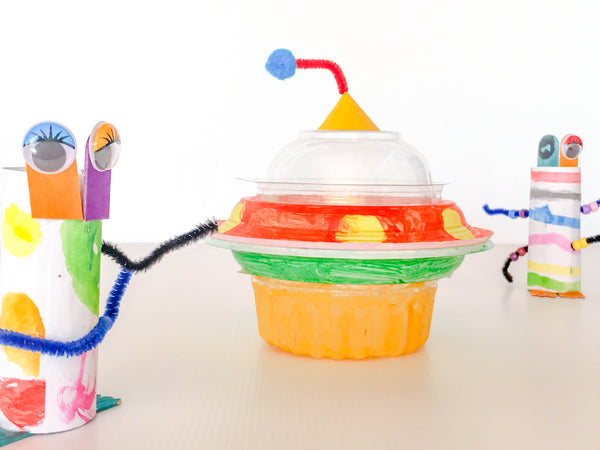 DIY UFO spaceship - Happy Active Kids Australia