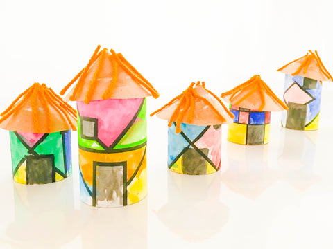DIY Ndebele Houses - Happy Active Kids Australia