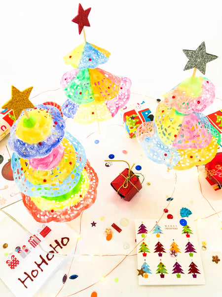 Diy Rainbow Christmas Tree Craft Happy Active Kids