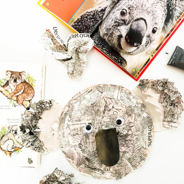 How to make a collage Koala - Happy Active Kids Australia