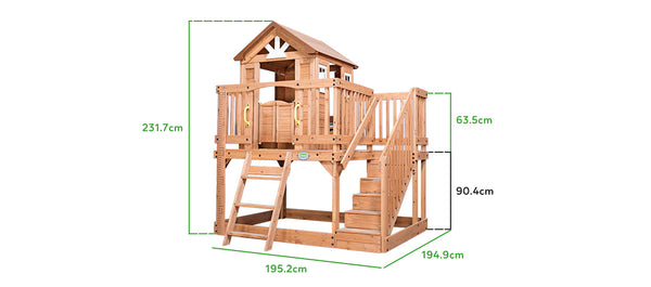 BYD Scenic Heights Cubby House - Lifespan Kids- buy online Happy Active Kids