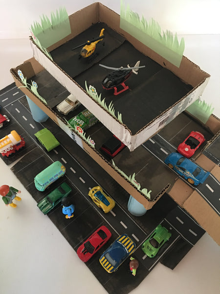 DIY Cardboard Garage - Happy Active Kids Australia