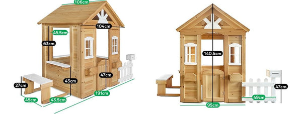 Buy online : Teddy Cubby House Set in Natural Timber V2 (without floor) - Lifespan Kids  - Happy Active Kids Australia