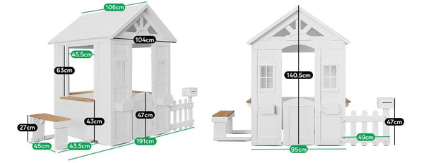 Buy online : Teddy Cubby House Set in White (without floor) - Lifespan Kids - Happy Active Kids Australia