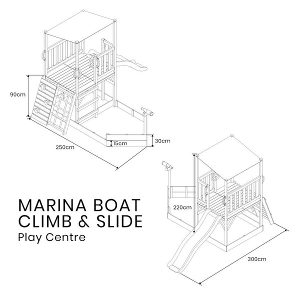 Buy online: Marina Boat Play Centre with slide and climbing frame - Lifespan Kids - Happy Active Kids Australia