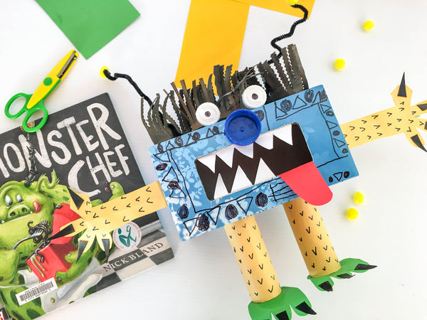 Happy Active Kids - Australian Outdoor Play Equipment - Recycled Tissue Box Monster - Happy Kids are Creative Kids