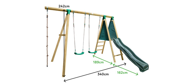 Monash Swing Set Play Centre with Red Slide - Lifespan Kids - Happy Active Kids