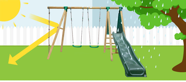 Monash Swing Set Play Centre with Red Slide - Lifespan Kids