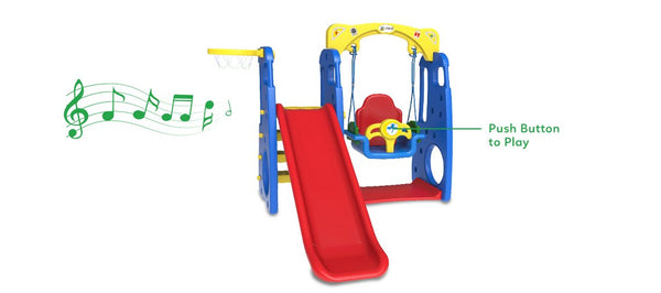 Ruby 4 in 1 Toddler Swing & Slide - Lifespan Kids - buy online Happy Active Kids