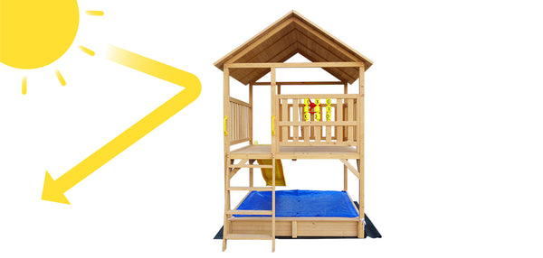 Stanford Cubby House with Blue Slide - Lifespan Kids