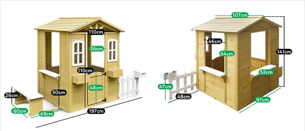 Teddy Cubby House Set with Floor - Lifespan Kids - buy online Happy Active Kids