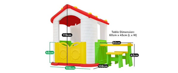 Buy online: Wombat V2 Indoor/ Outdoor Cubby House with Picnic Table - Lifespan Kids - Happy Active Kids