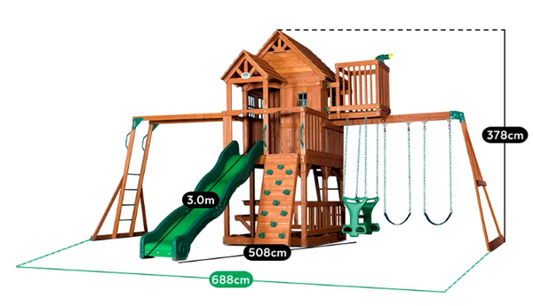 buy online: BYD Skyfort 2 Cedar Play Centre - Lifespan Kids - Happy Active Kids Australia