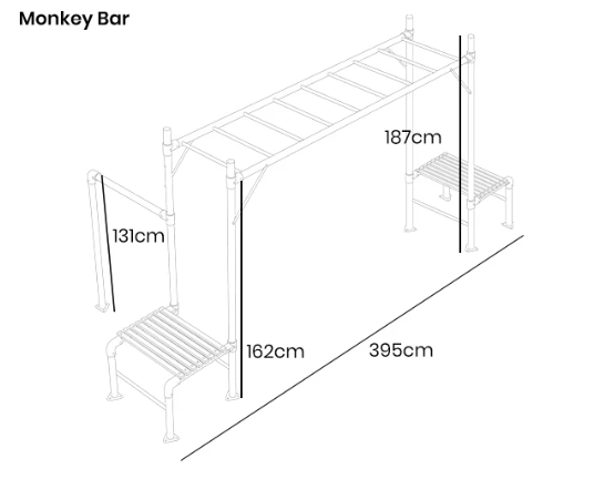Junior Jungle Monkey Bar Module - Lifespan Kids - Happy Active Kids Australia