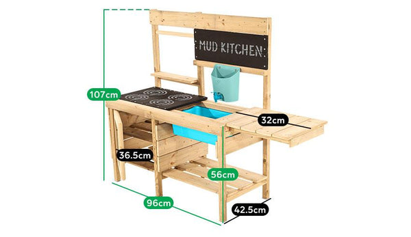 Buy online: TP Muddy Madness Outdoor Wooden Play Kitchen - Lifespan Kids - Happy Active Kids Australia