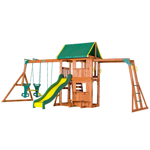 Lifespan Kids Play Centres Backyard Discovery Prairie Ridge Play Centre - Lifespan Kids - eta TBC 09347166043337 BYDPRAIRIERIDGE-SET Buy online: Backyard Discovery Prairie Ridge Cedar Play Centre  Happy Active Kids Australia