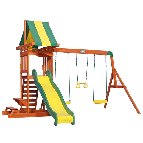 Lifespan Kids Play Centres Backyard Discovery Sunnydale Play Centre - Lifespan Kids - OUT OF STOCK eta mid July 2021 (PREORDER AVAILABLE NOW) 00752113808010 BYDSUNNYDALE-SET Buy online: Backyard Discovery Sunnydale Play Centre - Lifespan Kids Happy Active Kids Australia