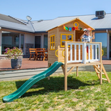 Lifespan Kids Play Houses Archie Cubby Playhouse with Green Slide - Lifespan Kids PEARCHIE-SET-GRN Buy online: Archie Cubby Playhouse with Green Slide - Lifespan Kids Happy Active Kids Australia