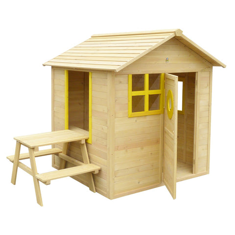 Lifespan Kids Play Houses Bandicoot Cubby House with Picnic Table and Floor - Lifespan Kids - OUT OF STOCK 09347166035639 PEBANDICOOT-SET-FULL Buy online: Bandicoot Cubby House with Picnic Table & Flooring  Happy Active Kids Australia
