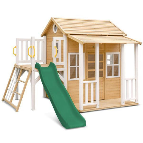 Lifespan Kids Play Houses Finley Cubby House with Green Slide - Lifespan Kids (contact us for shipping quote) LKCH-FINLEY-GRN Buy online: Finley Cubby House with Green Slide - Lifespan Kids Happy Active Kids Australia